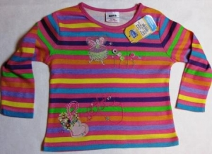 striped raglan with a little fairy ― Maksimka - quality children's clothing.