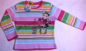 striped raglan with princess ― Maksimka - quality children's clothing.