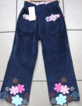corduroy pants with flowers