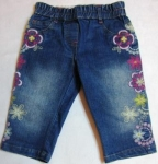 jeans, capri pants with flowers