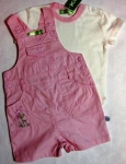 Bib-shorts + t-shirt pink